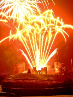 Bonfire Night w Caerphilly Castle