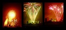 Bonfire Night w Caerphilly Castle