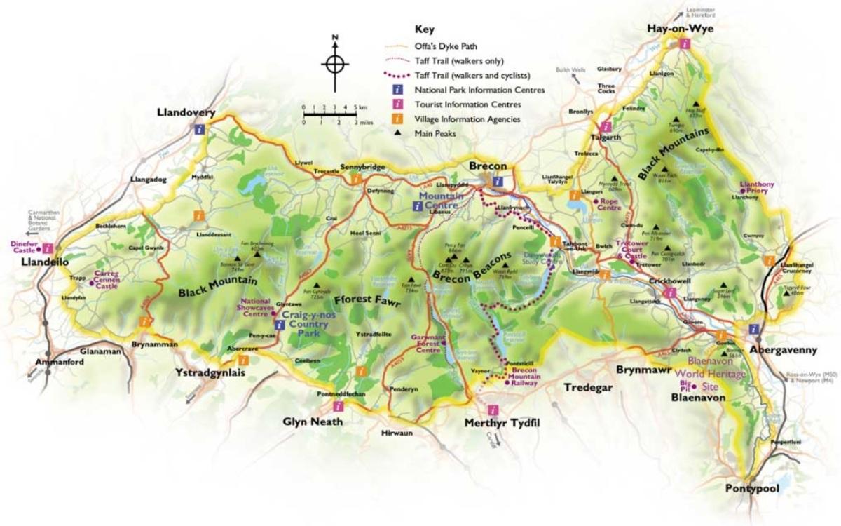 Brecon Beacons - Mapa