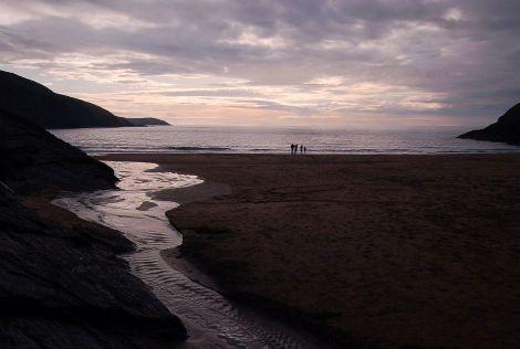 Plaża w Mwnt