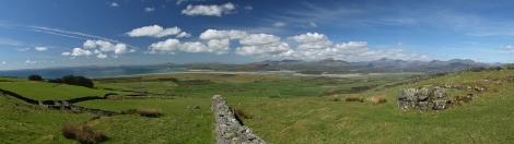 Panorama Snowdonii i Półwyspu Llŷn ze szlaku Fonlief Hir