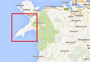 Półwysep Llŷn na mapie Walii