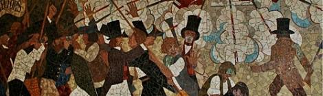 Newport Chartists Mural (źródło zdjęcia: https://upload.wikimedia.org/wikipedia/commons/f/f5/Newportx1.JPG)