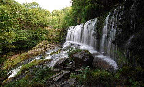 """W """"krainie wodospadów"""" - wodospad Sgwd Isaf Clun Gwyn"""