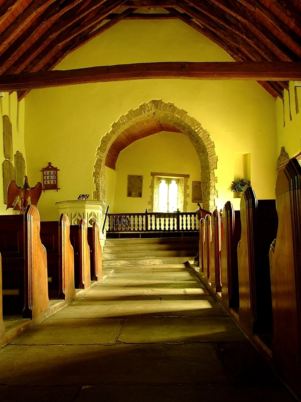 Wnętrze St. Martin's Church w Cwmyoy
