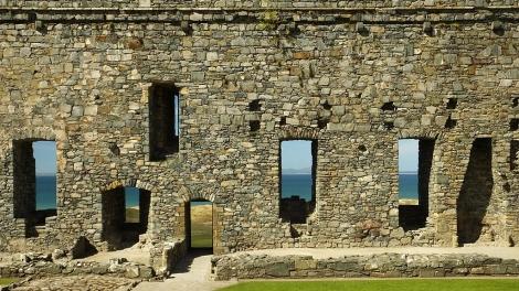 Harlech Castle z widokiem na Cardigan Bay