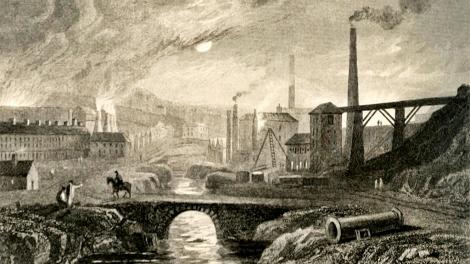 Nantyglo Ironworks w artystycznej wizji Henry'ego Gastineau (1791–1876)