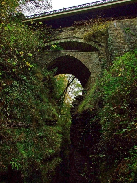 Trzy mosty w Devil's Bridge