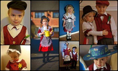 Dzieci w strojach walijskich