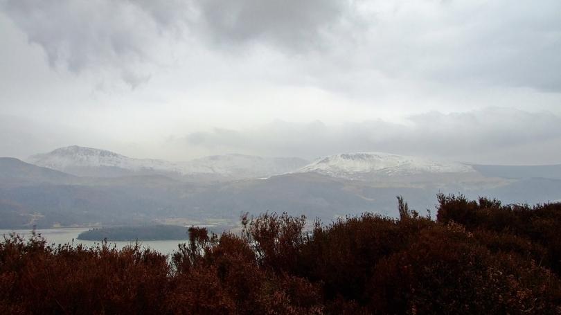 Widok na masyw Cadair Idris z Panorama Walk