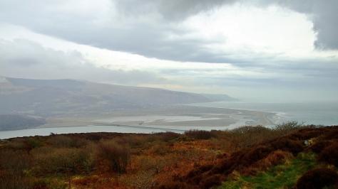 Widok na Estuarium rzeki Mawddach z Panorama Walk