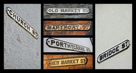 Stare tablice z nazwami ulic