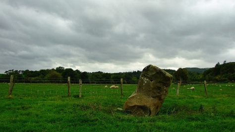 Newbridge on Wye standing stone
