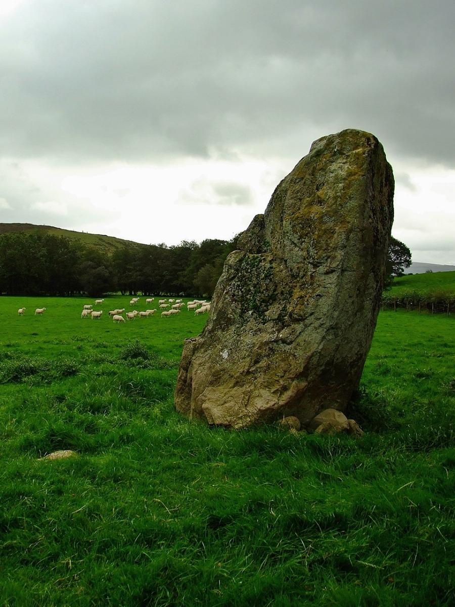 Dol y Felin standing stone, znany również jako St Afan's Stone