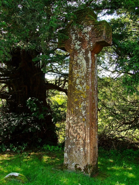 Celtycki krzyż w Abergwesyn