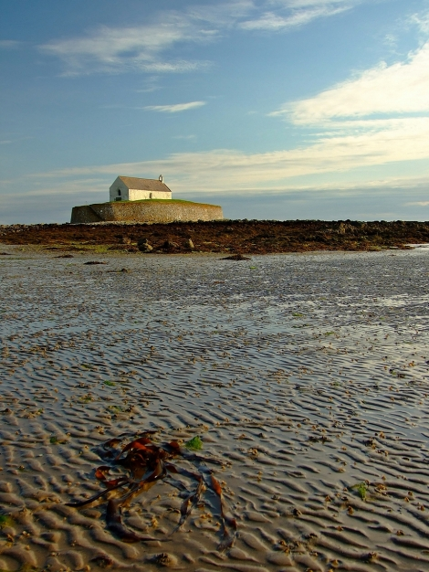 St Cwyfan's Church - Church in the sea