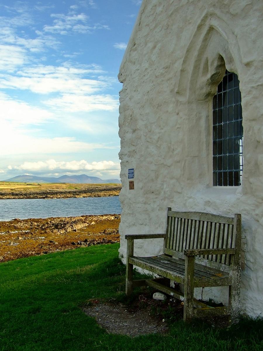 St Cwyfan's Church - Church in the sea