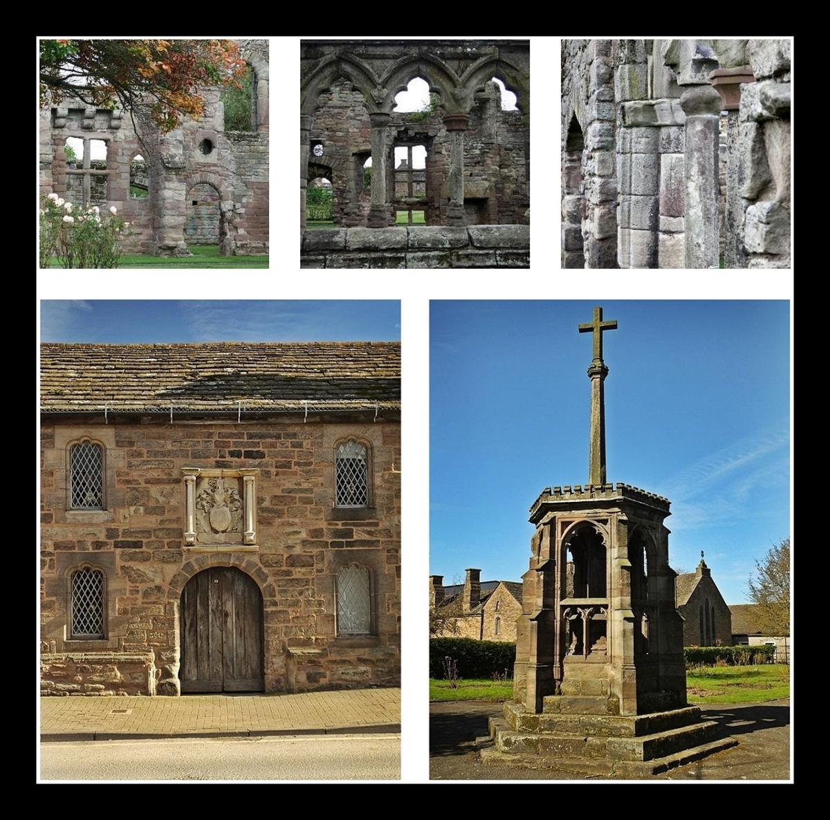 Ruiny Black Friars Monastery, Coningsby Hospital i czternastowieczny Preaching Cross stojący na cmentarzu dawnego klasztoru (prawdopodobnie jedyny taki krzyż zachowany na Wyspach)