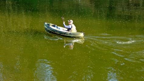 Kajakarz na rzece Wye