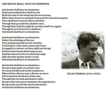 Dylan Thomas wiersz 'And Death Shall Have No Dominion', zródło: internet