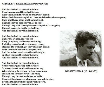 "Dylan Thomas wiersz ""And Death Shall Have No Dominion"", zródło: internet"