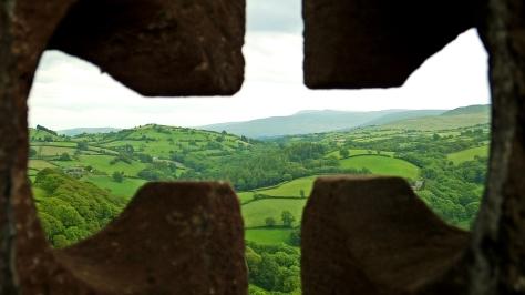 Widok z zamku Carreg Cennen