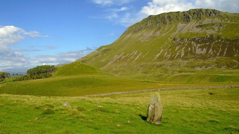 Carreg y Big standing stone