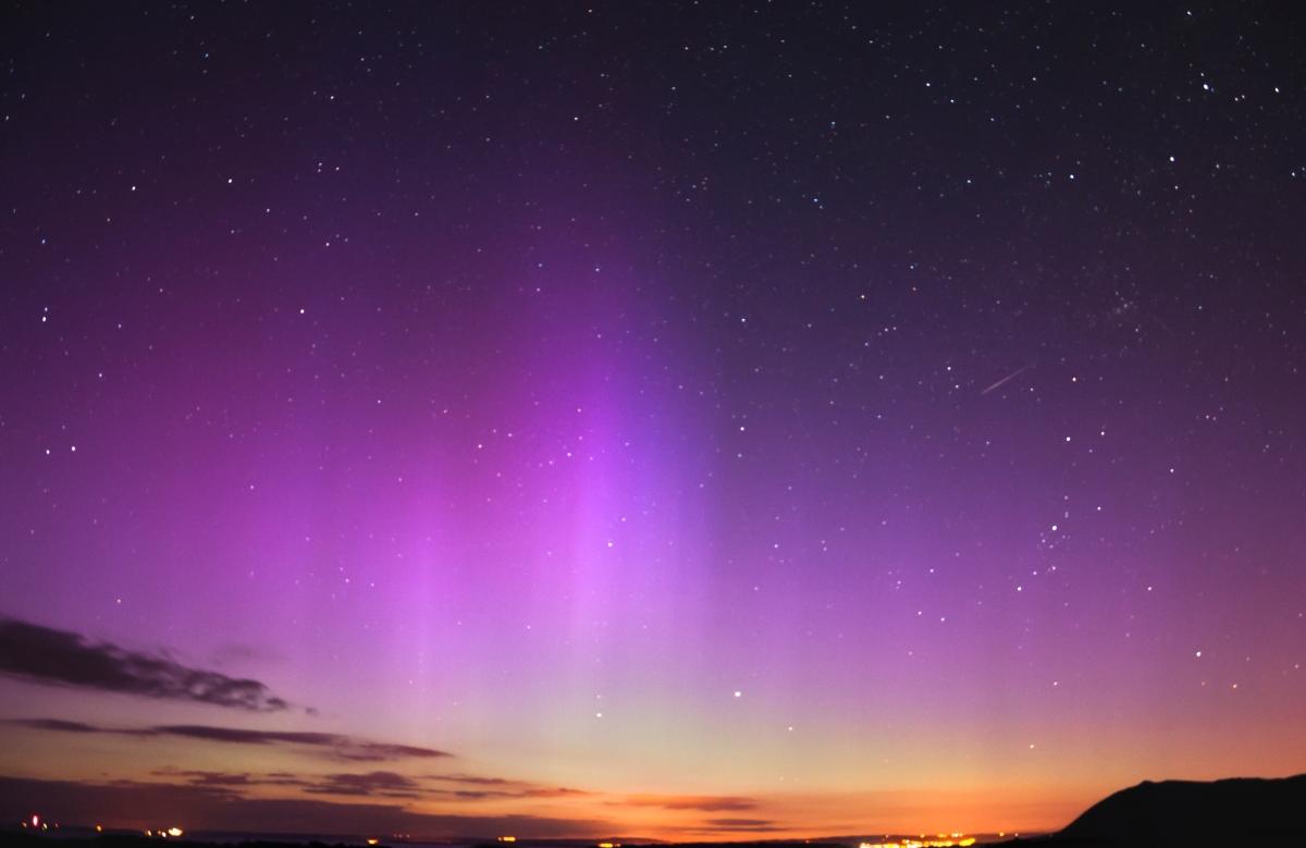 Aurora borealis nad Walią, © Piotrek Nowak
