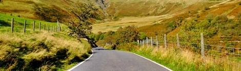 Droga przez Dolinę Ystwyth