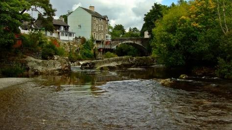 Rhayader - Most na rzece Wye w miejscu gdzie kiedyś znajdował się wodospad