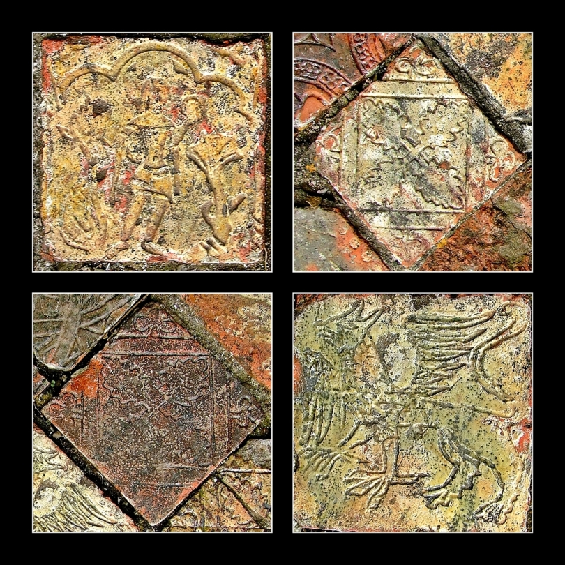 Strata Florida - zdobione płytki podłogowe